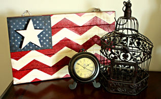 4th of july chevron flag, patriotic decor ideas, seasonal holiday d cor