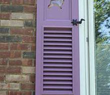 my custom purple shutters, curb appeal, windows, My funky purple shutters