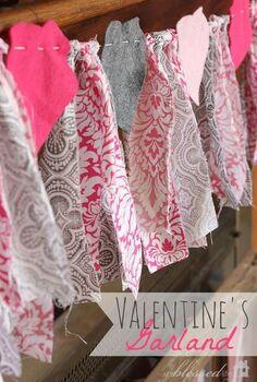 easy valentine s day garland, crafts, valentines day ideas