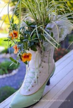 market treasures, container gardening, gardening, I m giving away this fab Heritage Boot Planter at the Market