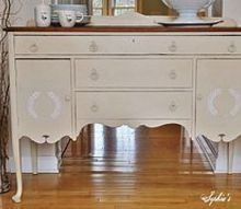 simple sideboard makeover with chalk paint, chalk paint, painted furniture