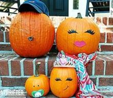 what would your pumpkin family look like, halloween decorations, seasonal holiday d cor