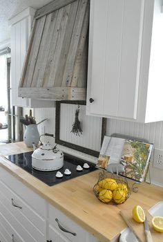 farmhouse kitchen remodel, home decor, kitchen design, Reclaimed wood vent hood