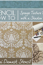 stencil how to easy sponge roller texture and stencil shadow shift, paint colors, painting, wall decor, Stencil How To Sponge Texture Finish with a Shadow Shift effect