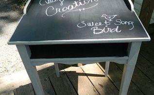 chalkboard top desk redo, chalk paint, chalkboard paint, painted furniture, The After