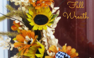 make it pretty monday features, home decor, kitchen design, painted furniture, Fall Wreath from