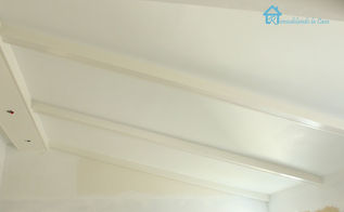 install faux wooden beams, home decor, woodworking projects, After