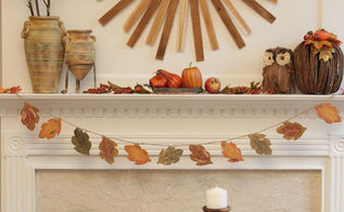 fall mantel, crafts, seasonal holiday decor, My new mantel is ready
