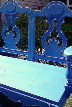 chair bench, painted furniture, repurposing upcycling, Painted Chair Bench