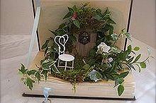 mini garden in a book, crafts, home decor, A mini garden in a book