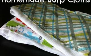 homemade personalized baby burp cloth, cleaning tips, go green, Pretty personalized homemade and practical What could be a better gift for a new baby or expectant mother