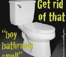 getting rid of that boy bathroom smell, bathroom ideas, cleaning tips