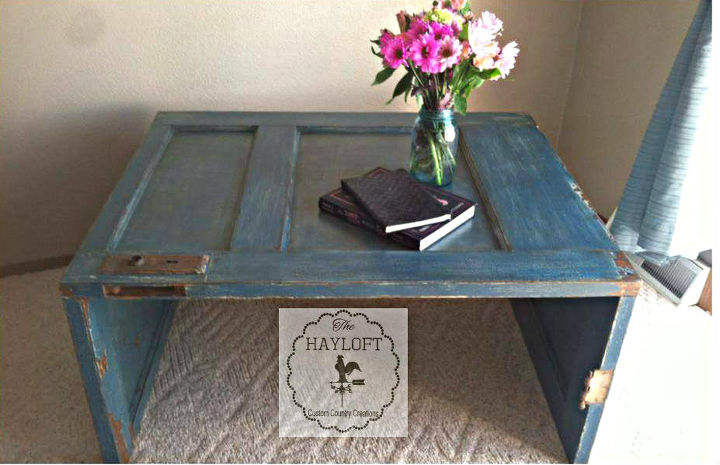 Old Door Coffee Table Painted Furniture Repurposing Upcycling