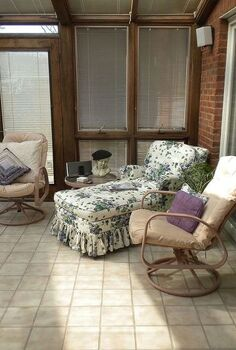 slipcover lesson from a master, home decor, reupholster, Original floral fabric