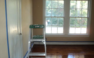 bedroom turned into a office after we flipped a house, flooring, hardwood floors, new office