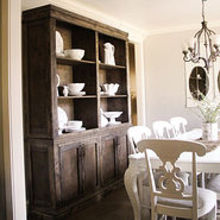 diy dining room sideboard and hutch restoration hardware style, painted furniture, woodworking projects