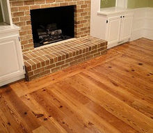 installing antique pine heart flooring farmhousestyle, flooring, living room ideas