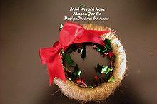 mason jar lid ornaments, christmas decorations, crafts, mason jars, seasonal holiday decor, wreaths