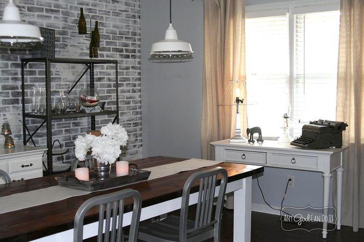 Industrial dining room reveal hometalk for Dining room ideas industrial