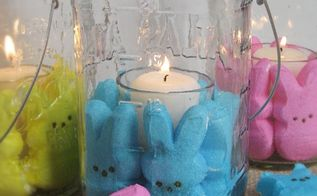 easter fun my peeps mason jar candles, crafts, easter decorations, mason jars, seasonal holiday decor, Super easy and fun candles for your Easter decor