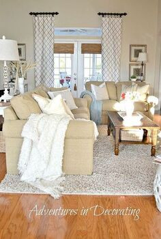 revamped great room, chalk paint, home decor, living room ideas, We brought our love seat in for extra seating