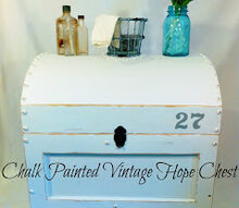 chalk painted vintage hope chest, chalk paint, painted furniture, Tutorial on a DIY Chalk Painted Vintage Hope Chest