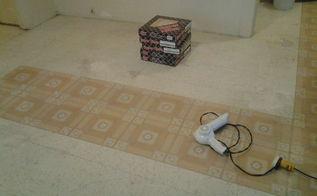 installing new linoleum floor, flooring