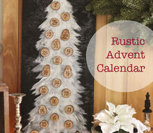 rustic advent calendar, seasonal holiday d cor