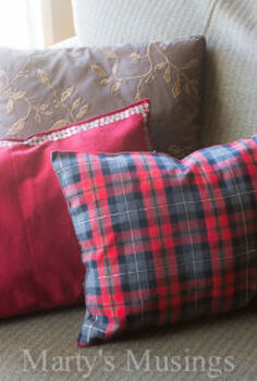 no sew place mat pillows, crafts, repurposing upcycling, The end result