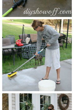 time to spruce up the patio before after, outdoor living, patio, giving it a good scrub