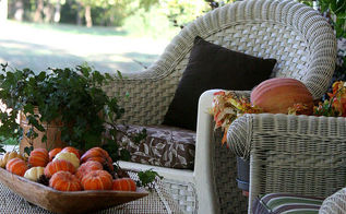 my southern fall porch, outdoor living, seasonal holiday decor