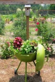 turning an old grill into a planter, flowers, gardening, repurposing upcycling, Our Repurposed Grill