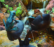 bronze frogs spitting fountains fountains garden art landscaping ideas bjl, gardening, home decor, ponds water features, Bronze Frogs Spitting Fountains Fountains Garden Art Landscaping Ideas BJL Aquascapes Colts Neck Monmouth Co NJ View more of our photos on Bubbling urns click on this link