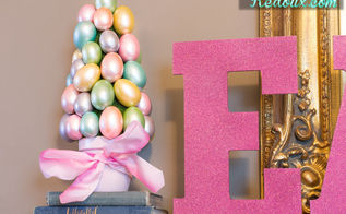 easter egg trees, crafts, easter decorations, seasonal holiday decor