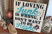 a junkie spin on burlap canvas art, crafts, repurposing upcycling, Calling all junkies you agree with me right