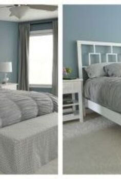 simple bedframe, bedroom ideas, painted furniture