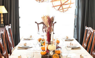 trash to treasure thanksgiving tablescape, seasonal holiday d cor, thanksgiving decorations, New lights