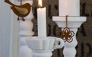 lamp stand to candle stick, crafts, lighting