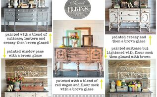 milk painted antique buffets, painted furniture