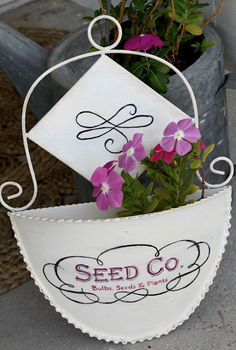 brighten your front door with blooms in a hanging pocket planter, container gardening, doors, gardening