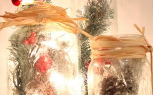 frosted illum mason aries get the look, crafts, mason jars, seasonal holiday decor