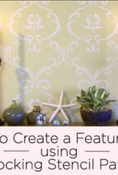 video tutorial on stenciling with interlocking patterns, painting, wall decor