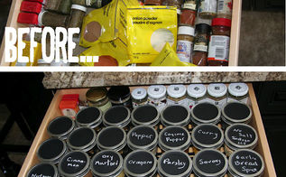 spice it up organizing your spice drawer, chalk paint, chalkboard paint, crafts, mason jars, organizing