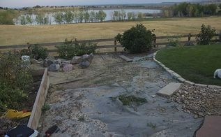 a before and after makeover of an arvada co backyard, go green, outdoor living, ponds water features, This Arvada CO home with a spectacular view of a lake needed some backyard water up close
