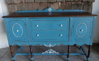 painted vintage buffet, painted furniture