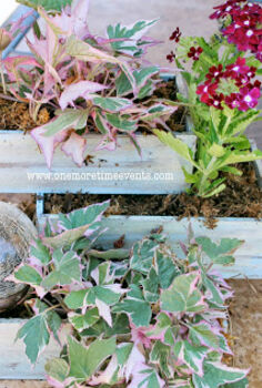 small 3 tiered planter and solar lighting, crafts, gardening, Small 3 Tiered planter