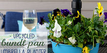 bundt pan umbrella planter tutorial, flowers, gardening, repurposing upcycling