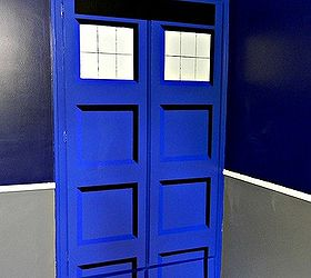 Diy Tardis Bedroom Closet, Bedroom Ideas, Doors, Painting, Painted Faux  Recessed Panels
