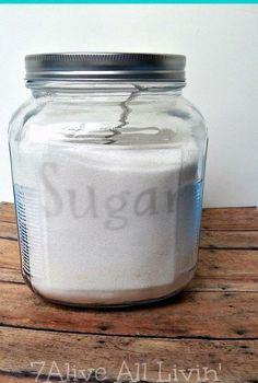 how to etch glass, crafts, home decor, Etch glass to make a custom sugar and flour jars