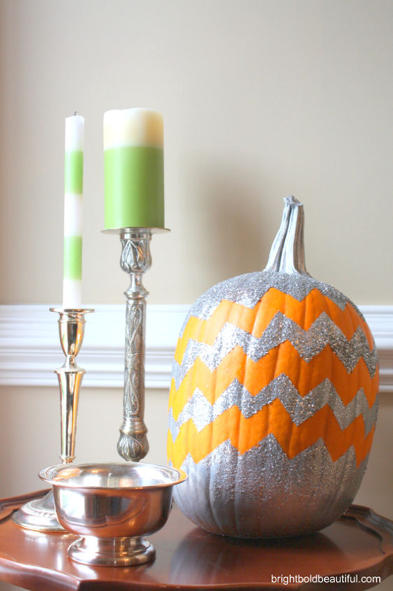 How to make a chevron pumpkin hometalk - Making a pumpkin keg a seasonal diy project ...
